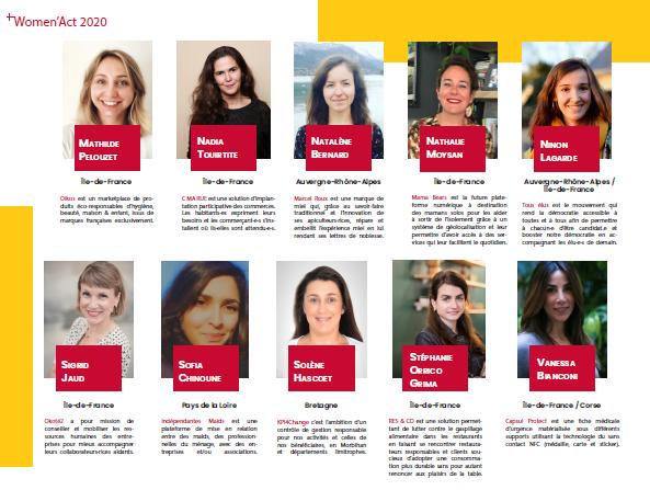Women Act -  entrepreneuriat social féminin - promotion 2020 12