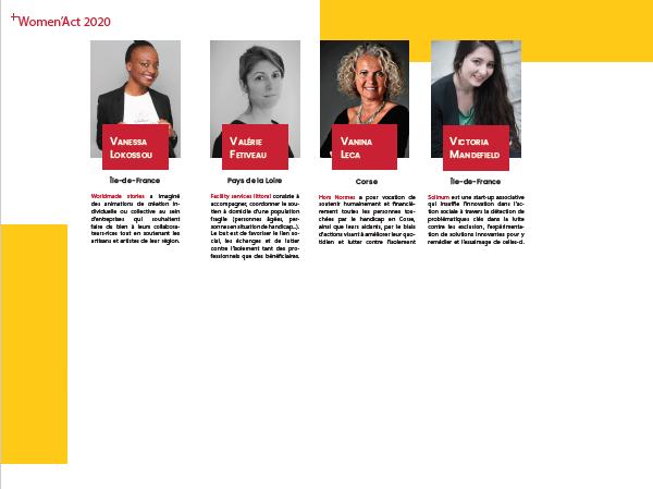Women Act -  entrepreneuriat social féminin - promotion 2020 3