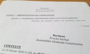 Procès Verbal Création Association Bardane